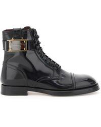 Dolce & Gabbana Dolce & Gabbana Brushed Calfskin Ankle Boot - Black