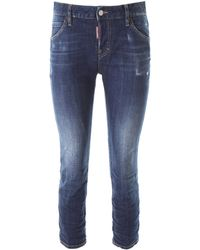 DSquared² JEANS COOL GIRL CROPPED - Blu