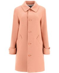 A.P.C. Suzanne Coat In Wool Blend 36 Wool - Pink