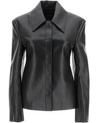 Low Classic Faux Leather Shirt S Faux Leather - Black