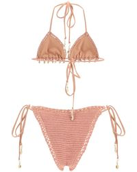 Zimmermann Cassia Crochet Bikini - Pink