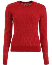 Fendi Ff Pullover - Red