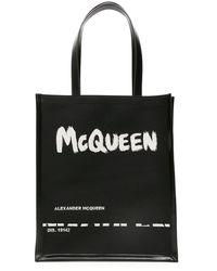 Alexander McQueen - SHOPPER LOGO GRAFFITI JACQUARD - Lyst