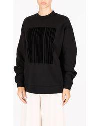 Alexander Wang Oversized Barcode Sweatshirt - Black