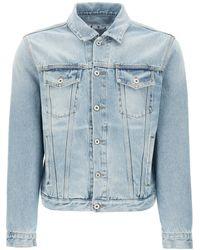 Off-White c/o Virgil Abloh Denim Jacket S Cotton,denim - Blue