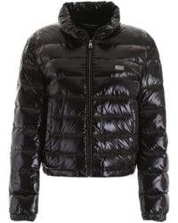 Dolce & Gabbana Shiny Padded Jacket - Black