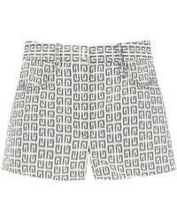 Givenchy Jacquard Shorts With 4g Logo 25 - Black