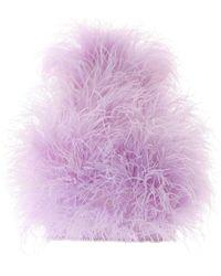 The Attico Marabou Top - Purple