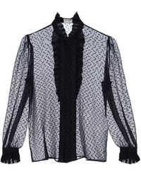 Saint Laurent CAMICIA IN FIL COUPE' - Nero