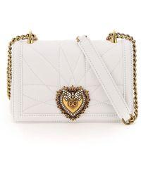 Dolce & Gabbana MINI BAG CROSSBODY NAPPA MATELASSE DEVOTION - Bianco