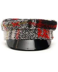 Ruslan Baginskiy Baker Boy Tartan Hat - Red
