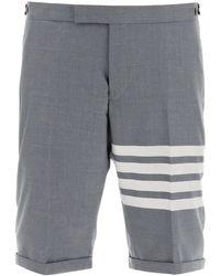 Thom Browne 4-bar Wool Bermudas - Grey