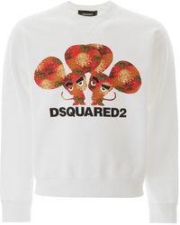 DSquared² Maglione con stampa - Bianco