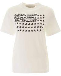 Golden Goose Deluxe Brand Logo Stars T-shirt - White