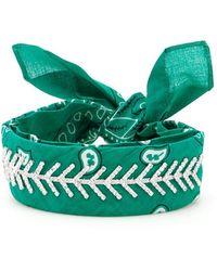 Fallon Monarch Diamante Choker - Green
