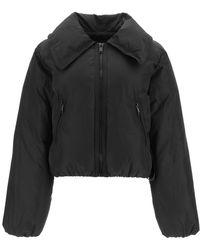 Ganni Short Down Jacket - Black