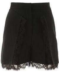 Alexander McQueen Lace Details Shorts - Black