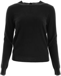 Tory Burch Buttoned Cashmere Pull - Black