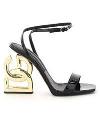 Dolce & Gabbana Dolce & Gabbana Dg Pop Heel Sandals - Black