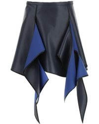 Y. Project Y Project Flame Mini Skirt - Blue