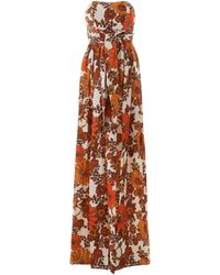 Dodo Bar Or Zaza Floral Print Maxi Dress - Orange