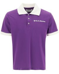 Youths in Balaclava Printed Polo Shirt S Cotton - Purple
