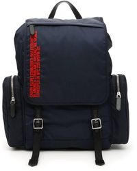 CALVIN KLEIN 205W39NYC Flap Backpack - Blue