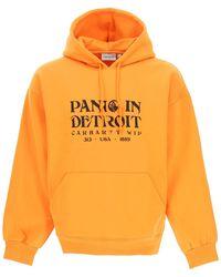 Carhartt Panic Print Hoodie - Orange