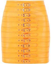 Manokhi Buckled Dita Skirt - Orange