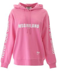 MSGM Multilogo Hoodie - Pink