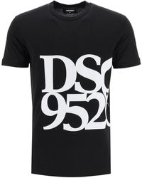 DSquared² T-SHIRT ANNIVERSARY STAMPA DSQ 95/20 - Nero