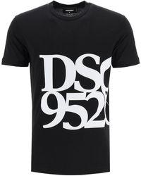 DSquared² Anniversary T-shirt With Dsq 95/20 Print - Black