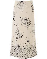 Miu Miu Stars Print Midi Skirt - Multicolour