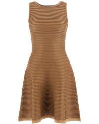 DSquared² Ribbed Knit Mini Dress - Brown