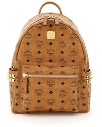 MCM - Stark Visetos Backpack With Side Studs - Lyst