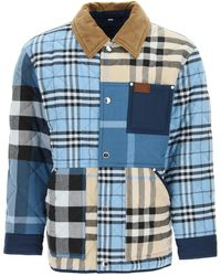 Burberry Patchwork Quilted Jacket - Blue