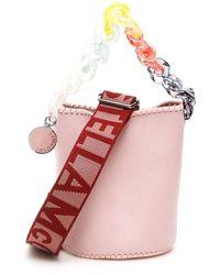 Stella McCartney Pastel Chain Bucket Bag - Pink