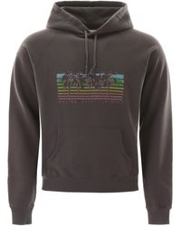 Saint Laurent Printed Loopback Cotton-jersey Hoodie - Grey