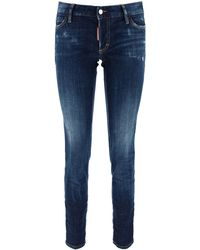 DSquared² JEANS JENNIFER CROPPED - Blu