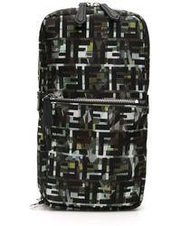 Fendi Camouflage Ff One-shoulder Backpack - Black
