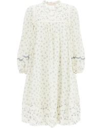 See By Chloé Cotton Voile Dress Prairie Motif - Multicolor
