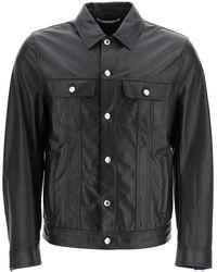 Dolce & Gabbana Leather Jacket - Black