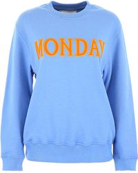 Alberta Ferretti Light Blue Cotton Sweatshirt