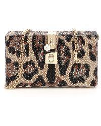 Dolce & Gabbana Embellished Leopard Box Clutch - Multicolor
