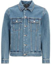 A.P.C. Charles Denim Jacket S Cotton,denim - Blue