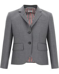 Thom Browne Super 120's Single-breasted Jacket - Gray