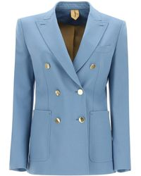 Max Mara Gesto Wool Mohair Blazer - Blue