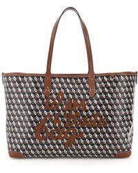 Anya Hindmarch Small Tote Bag I Am A Plastic Bag - Black