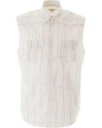 Phipps Sleeveless Striped Shirt - Multicolour