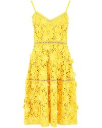 MICHAEL Michael Kors Lace Dress - Yellow